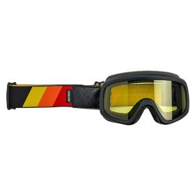 Biltwell Overland 2.0 Tri-Stripe Goggles Black / Red / Yellow / Orange