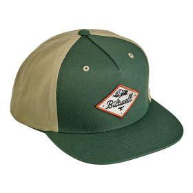 Biltwell Rocky Mountain Snapback Cap Green / Beige