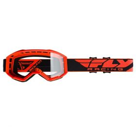 Fly Racing Focus Youth Goggles With Clear Lens Hi-Viz Orange