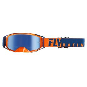 Fly Racing Zone Pro Goggles With Blue Mirror Lens Orange / Blue