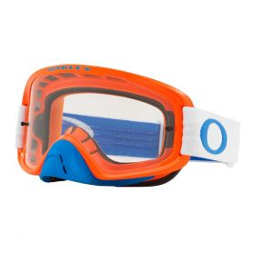 Oakley O Frame 2.0 MX Goggle Blue / Orange Clear & Dark Grey Lens