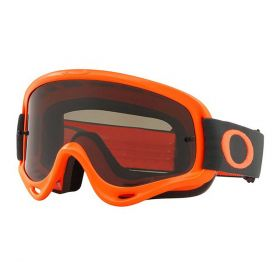 Oakley Adult O Frame MX Goggle Orange Gunmetal Dark Grey Lens