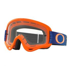 Oakley O Frame MX Goggle Shockwave Orange / Blue Clear Lens - XS
