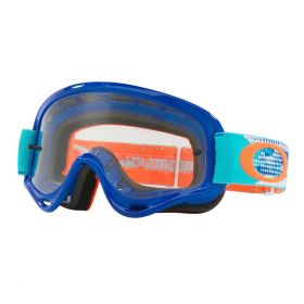 Oakley O Frame MX Goggle Treadburn Orange / Blue Clear Lens - XS