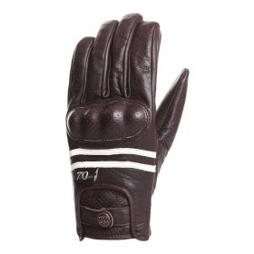 Segura Edwin Leather Gloves Brown / Ecru