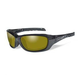Wiley X Gravity Sunglasses Black With Yellow Lens