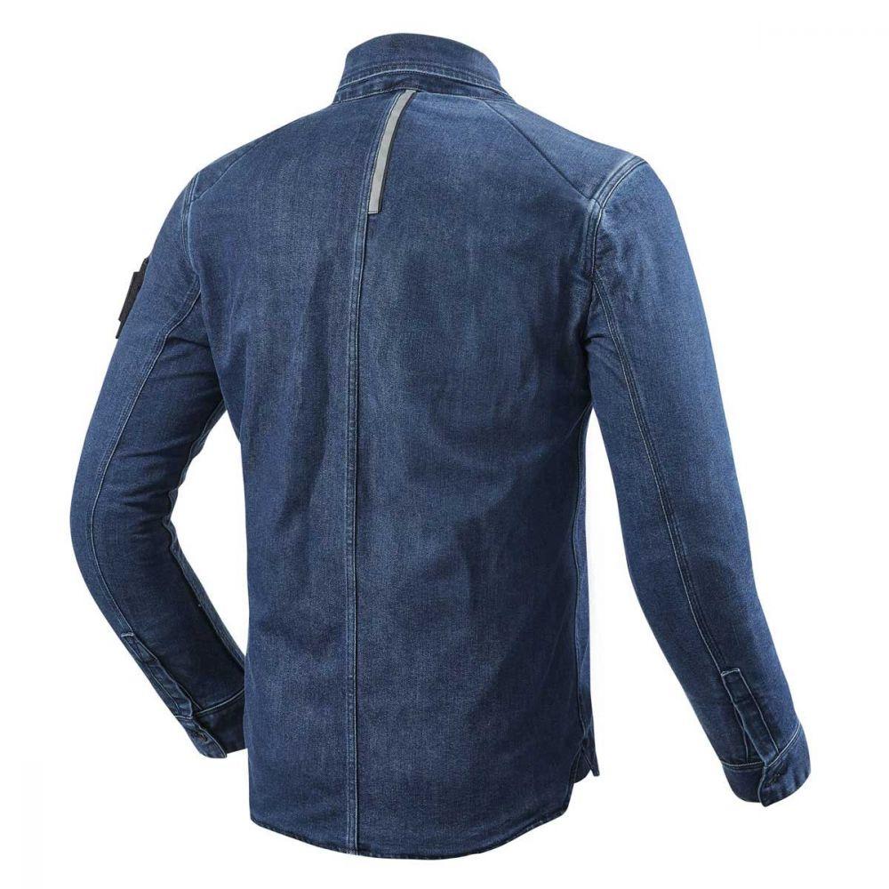Motorcycle shirt Rev/'It Free Shipping Hudson Light Blue Overshirt New!